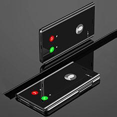 Coque Portefeuille Livre Cuir Miroir Housse Etui Clapet L02 pour Huawei Nova 5 Pro Noir