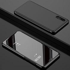 Coque Portefeuille Livre Cuir Miroir Housse Etui Clapet L02 pour Huawei P20 Pro Noir