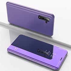 Coque Portefeuille Livre Cuir Miroir Housse Etui Clapet L02 pour Samsung Galaxy Note 10 Bleu
