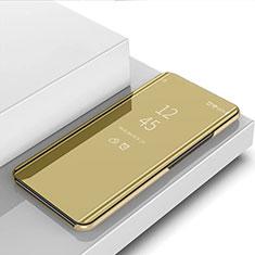 Coque Portefeuille Livre Cuir Miroir Housse Etui Clapet L02 pour Samsung Galaxy Note 10 Lite Or