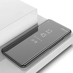 Coque Portefeuille Livre Cuir Miroir Housse Etui Clapet L02 pour Samsung Galaxy S10 5G SM-G977B Noir