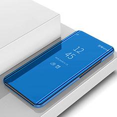 Coque Portefeuille Livre Cuir Miroir Housse Etui Clapet L02 pour Samsung Galaxy S10 Plus Bleu