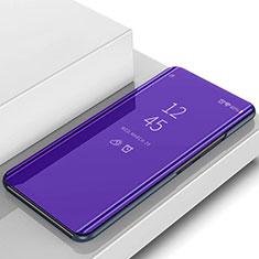Coque Portefeuille Livre Cuir Miroir Housse Etui Clapet L02 pour Samsung Galaxy S10 Plus Violet