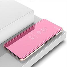 Coque Portefeuille Livre Cuir Miroir Housse Etui Clapet M03 pour Huawei P20 Lite (2019) Or Rose