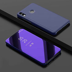 Coque Portefeuille Livre Cuir Miroir Housse Etui Clapet pour Huawei Honor View 10 Lite Bleu