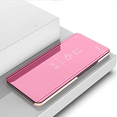 Coque Portefeuille Livre Cuir Miroir Housse Etui Clapet pour Huawei Mate 40 Lite 5G Or Rose