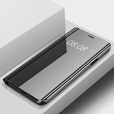Coque Portefeuille Livre Cuir Miroir Housse Etui Clapet pour Huawei P Smart (2019) Noir