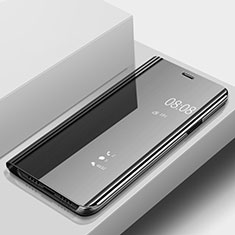 Coque Portefeuille Livre Cuir Miroir Housse Etui Clapet pour Huawei P20 Lite Noir