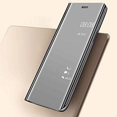 Coque Portefeuille Livre Cuir Miroir Housse Etui Clapet pour Huawei P20 Noir