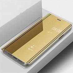 Coque Portefeuille Livre Cuir Miroir Housse Etui Clapet pour OnePlus 7 Pro Or