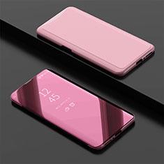 Coque Portefeuille Livre Cuir Miroir Housse Etui Clapet pour Oppo Find X Super Flash Edition Or Rose