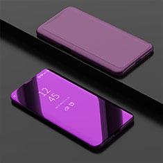 Coque Portefeuille Livre Cuir Miroir Housse Etui Clapet pour Oppo Find X Super Flash Edition Violet