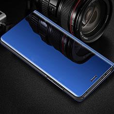 Coque Portefeuille Livre Cuir Miroir Housse Etui Clapet pour Oppo RX17 Pro Bleu