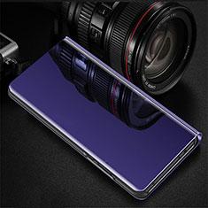 Coque Portefeuille Livre Cuir Miroir Housse Etui Clapet pour Oppo RX17 Pro Violet
