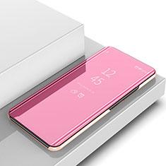 Coque Portefeuille Livre Cuir Miroir Housse Etui Clapet pour Samsung Galaxy A6s Or Rose