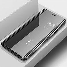 Coque Portefeuille Livre Cuir Miroir Housse Etui Clapet pour Samsung Galaxy A70 Noir