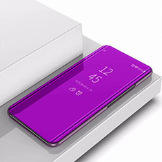 Coque Portefeuille Livre Cuir Miroir Housse Etui Clapet pour Samsung Galaxy A9s Violet