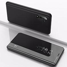 Coque Portefeuille Livre Cuir Miroir Housse Etui Clapet pour Samsung Galaxy Note 10 5G Noir