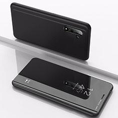 Coque Portefeuille Livre Cuir Miroir Housse Etui Clapet pour Samsung Galaxy Note 10 Noir