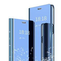 Coque Portefeuille Livre Cuir Miroir Housse Etui Clapet pour Xiaomi Mi 6X Bleu
