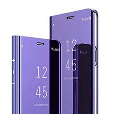 Coque Portefeuille Livre Cuir Miroir Housse Etui Clapet pour Xiaomi Mi 8 Pro Global Version Violet