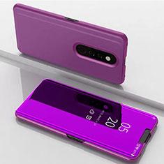 Coque Portefeuille Livre Cuir Miroir Housse Etui Clapet pour Xiaomi Mi 9T Pro Violet