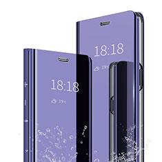 Coque Portefeuille Livre Cuir Miroir Housse Etui Clapet pour Xiaomi Mi A2 Violet