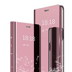 Coque Portefeuille Livre Cuir Miroir Housse Etui Clapet pour Xiaomi Mi Max 3 Or Rose