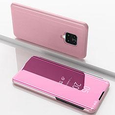 Coque Portefeuille Livre Cuir Miroir Housse Etui Clapet pour Xiaomi Redmi 10X Pro 5G Or Rose