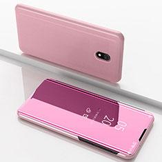 Coque Portefeuille Livre Cuir Miroir Housse Etui Clapet pour Xiaomi Redmi 8A Or Rose
