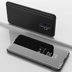 Coque Portefeuille Livre Cuir Miroir Housse Etui Clapet pour Xiaomi Redmi Note 8 Pro Noir