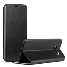 Coque Portefeuille Livre Cuir P01 pour Samsung Galaxy S8 Plus Noir