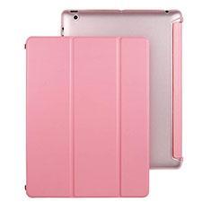 Coque Portefeuille Livre Cuir pour Apple iPad 4 Rose