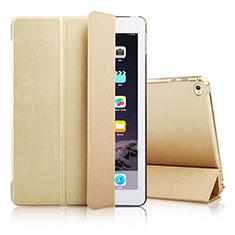 Coque Portefeuille Livre Cuir pour Apple iPad Air 2 Or