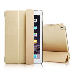 Coque Portefeuille Livre Cuir pour Apple iPad Mini 4 Or