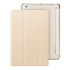 Coque Portefeuille Livre Cuir pour Apple iPad Mini Or