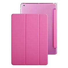 Coque Portefeuille Livre Cuir pour Apple iPad Mini Rose Rouge