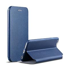 Coque Portefeuille Livre Cuir pour Apple iPhone 6S Plus Bleu