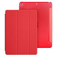 Coque Portefeuille Livre Cuir pour Apple New iPad 9.7 (2017) Rouge