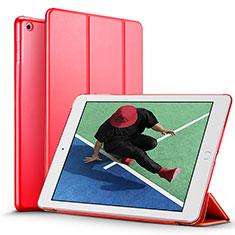 Coque Portefeuille Livre Cuir pour Apple New iPad Pro 9.7 (2017) Rouge