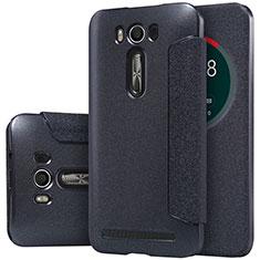 Coque Portefeuille Livre Cuir pour Asus Zenfone 2 Laser 6.0 ZE601KL Noir
