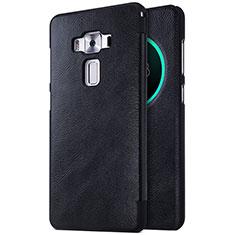 Coque Portefeuille Livre Cuir pour Asus Zenfone 3 Deluxe ZS570KL ZS550ML Noir