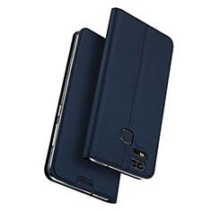 Coque Portefeuille Livre Cuir pour Asus Zenfone 3 Zoom Bleu