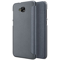 Coque Portefeuille Livre Cuir pour Asus Zenfone 4 Selfie ZD553KL Gris
