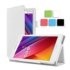 Coque Portefeuille Livre Cuir pour Asus ZenPad C 7.0 Z170CG Blanc
