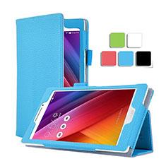 Coque Portefeuille Livre Cuir pour Asus ZenPad C 7.0 Z170CG Bleu Ciel