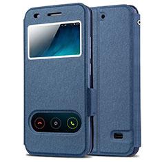 Coque Portefeuille Livre Cuir pour Huawei Ascend G620S Bleu