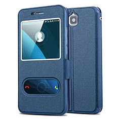 Coque Portefeuille Livre Cuir pour Huawei Enjoy 5 Bleu