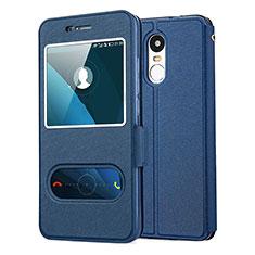 Coque Portefeuille Livre Cuir pour Huawei Enjoy 6 Bleu
