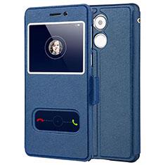 Coque Portefeuille Livre Cuir pour Huawei Enjoy 6S Bleu